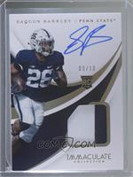 Rookie Patch Autographs - Saquon Barkley /10