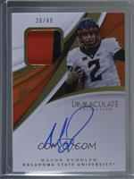 Immaculate Signature Rookie Patches - Mason Rudolph /49