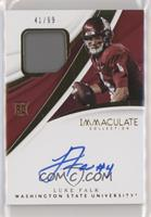 Immaculate Signature Rookie Patches - Luke Falk /99
