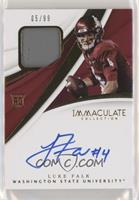 Immaculate Signature Rookie Patches - Luke Falk #/99