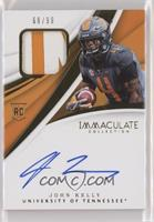 Immaculate Signature Rookie Patches - John Kelly /99