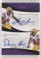 Immaculate Ink Combos - Derrius Guice, Leonard Fournette #/10