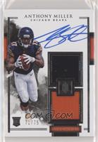Elegance Rookie Helmet and Patch Autos - Anthony Miller /75