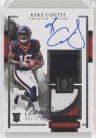 Elegance Rookie Helmet and Patch Autos - Keke Coutee #/75