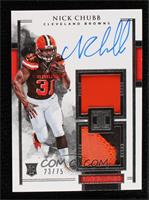 Elegance Rookie Helmet and Patch Autos - Nick Chubb #/75