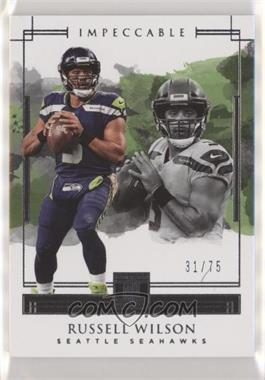 2018 Panini Impeccable - [Base] #87 - Russell Wilson /75
