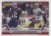 Tom Brady, Aaron Rodgers #/82
