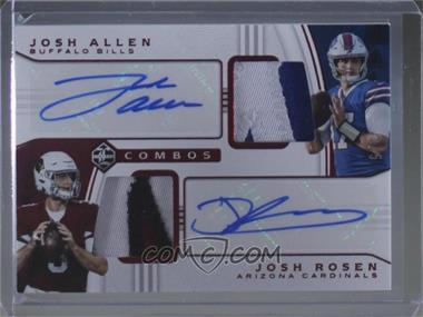2018 Panini Limited - Dual Patch Auto Combinations - Ruby Spotlight #DPA-JA - Josh Allen, Josh Rosen /5