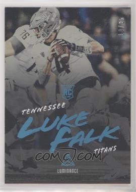 2018 Panini Luminance - [Base] - Platinum Blue Luminance #162 - Rookies - Luke Falk /25