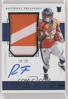 Rookie Patch Autograph Jersey Number - Royce Freeman #/28