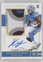 Rookie Patch Autograph - Kerryon Johnson [EX to NM] #/10
