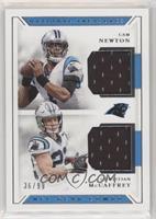 Cam Newton, Christian McCaffrey #/99