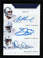 Troy Aikman, Emmitt Smith, Michael Irvin [Noted] #/10
