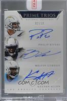 Keenan Allen, Melvin Gordon, Philip Rivers /10 [Uncirculated]