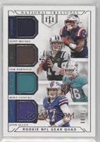 Sony Michel, Sam Darnold, Mike Gesicki, Josh Allen [EX to NM] #/99