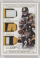 James Washington, Jaylen Samuels, Mason Rudolph /25 [EX to NM]