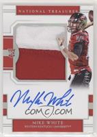 College Silhouettes Signatures - Mike White #/25