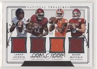 Baker Mayfield, Dede Westbrook, Lamar Jackson, Deshaun Watson [Noted] #/99