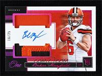 Rookie Dual Patch Autographs - Baker Mayfield #/25