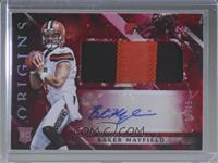 Rookie Jumbo Patch Autographs - Baker Mayfield #/75