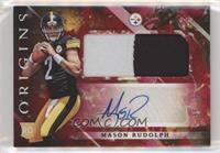 Rookie Jumbo Patch Autographs - Mason Rudolph #/99