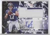 Rookie Jumbo Patch Autographs - Kyle Lauletta