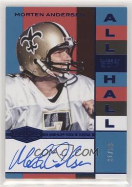 2018 Panini Plates & Patches - All Hall - Blue #AH-MA - Morten Andersen /50 - Courtesy of COMC.com