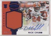 Rookie Patch Autographs - Nick Chubb #/50