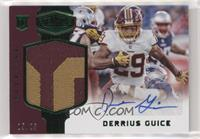 Rookie Patch Autographs - Derrius Guice [Noted] #/25