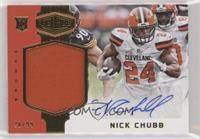 Rookie Patch Autographs - Nick Chubb #/99
