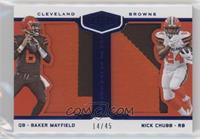 Baker Mayfield, Nick Chubb [GoodtoVG‑EX] #/45
