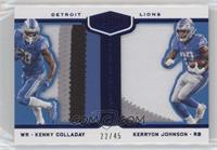 Kenny Golladay, Kerryon Johnson #/45