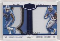 Kenny Golladay, Kerryon Johnson /45