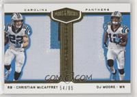 Christian McCaffrey, DJ Moore #/85