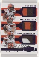 Baker Mayfield, Duke Johnson Jr., Nick Chubb /20