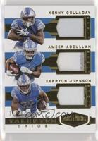 Ameer Abdullah, Kenny Golladay, Kerryon Johnson /50