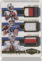 Josh Allen, Nathan Peterman, Zay Jones #/99
