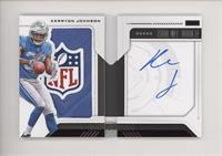 Rookie Playbook Jersey Autograph - Kerryon Johnson #/1