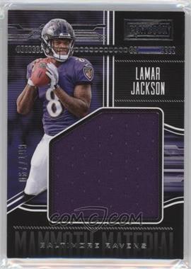 2018 Panini Playbook - Mammoth Materials #MM-1 - Lamar Jackson /199