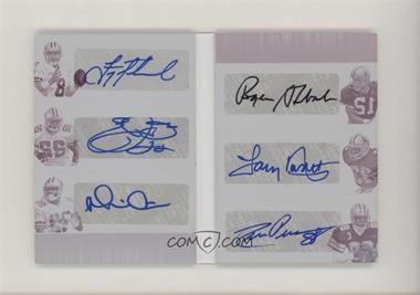 2018 Panini Playbook - Split 6 Signature Booklet - Printing Plate Magenta #2 - Drew Pearson, Emmitt Smith, Michael Irvin, Roger Staubach, Tony Dorsett, Troy Aikman /1 [Noted]
