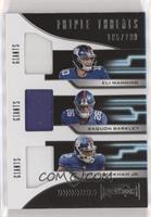 Eli Manning, Odell Beckham Jr., Saquon Barkley #/299