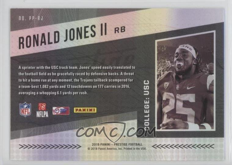 49ebc6e111d0 2018 Panini Prestige - NFL Passport #PP-RJ - Ronald Jones II