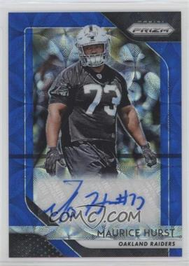 2018 Panini Prizm - Rookie Autographs - Blue Scope Prizm #RA-MH - Maurice Hurst /99