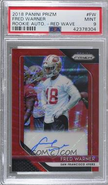 2018 Panini Prizm - Rookie Autographs - Red Wave Prizm #RA-FW - Fred Warner /199 [PSA 9 MINT]