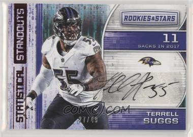 2018 Panini Rookies & Stars - Statistical Standouts Signatures #SS-TS - Terrell Suggs /49