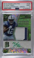 Rookie Patch Autographs - Nyheim Hines [PSA 9 MINT] #/60