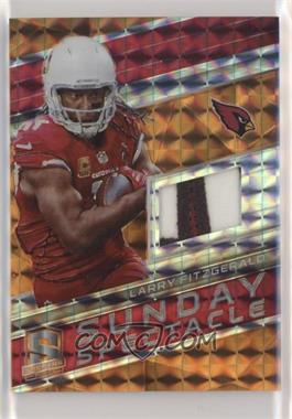 2018 Panini Spectra - Sunday Spectacle - Neon Orange #13 - Larry Fitzgerald /5
