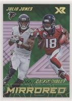 Calvin Ridley, Julio Jones #/3