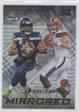 2018 Panini XR - Mirrored #M-1 - Baker Mayfield, Russell Wilson /75 [EXtoNM]