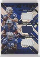 Andrew Luck, Nyheim Hines, T.Y. Hilton #/49